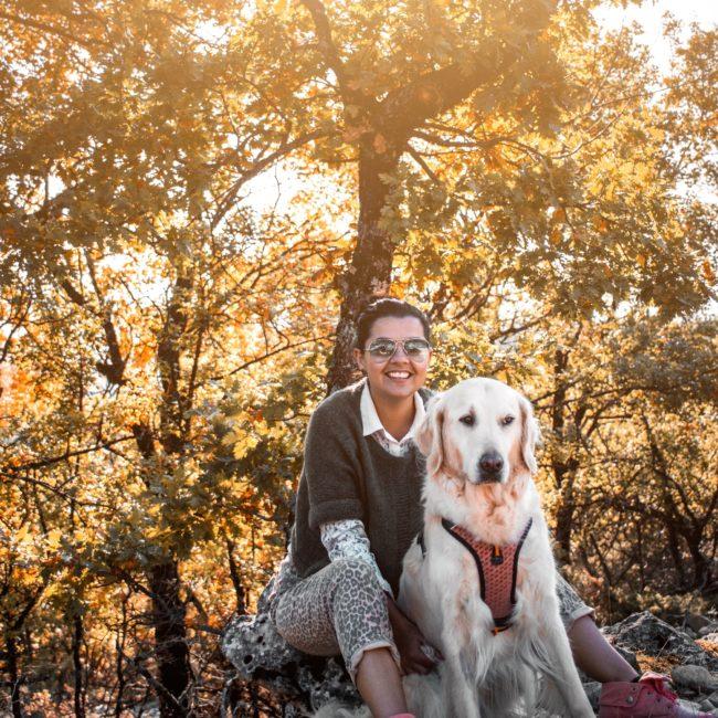 Forêt de Bédoin avec son chien