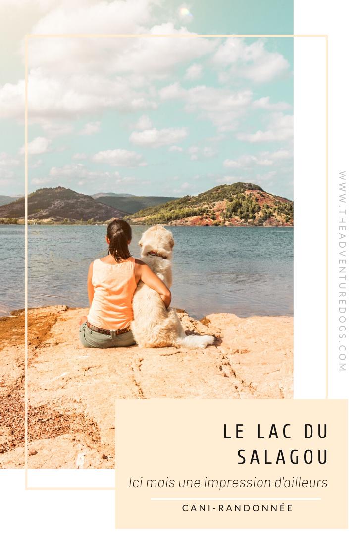 Le lac de Salagou avec son chien